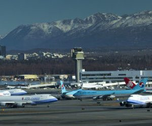 Anchorage Airport Busy